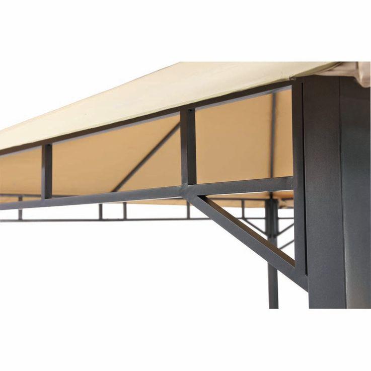 Pavillon sand TEPRO LEHUA 330x330x285 cm Garten Camping Terrasse 5508 – Bild 10