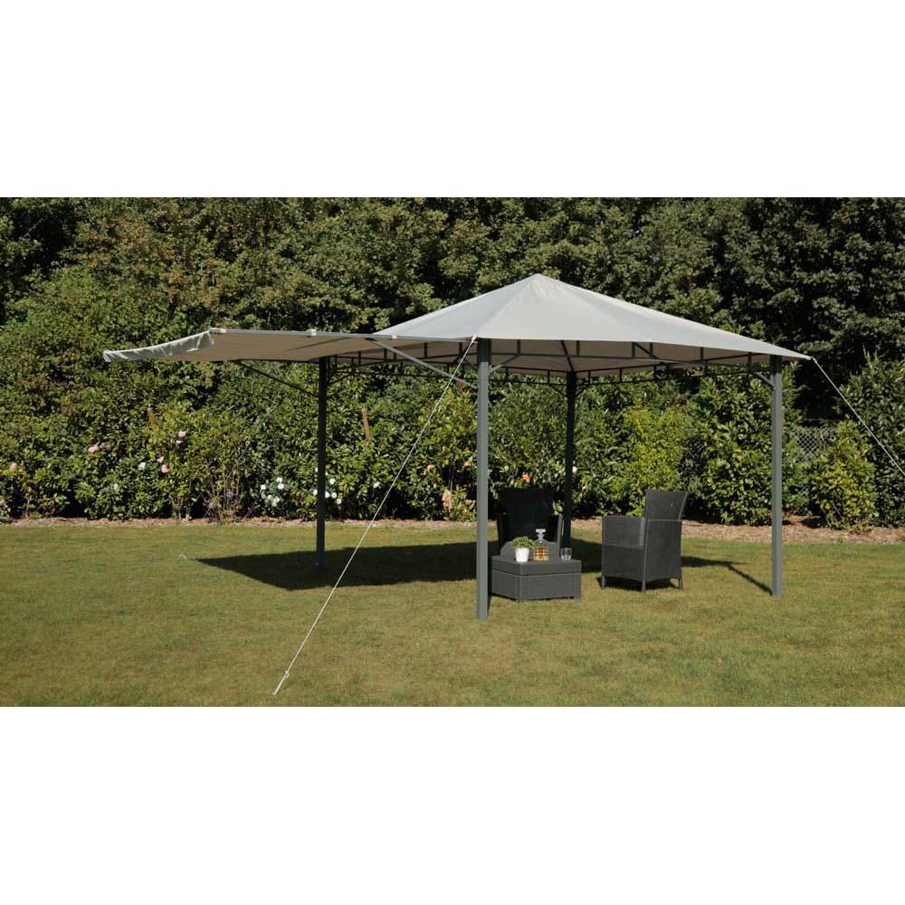 pavillion hellgrau tepro lehua 330x330x285 cm garten. Black Bedroom Furniture Sets. Home Design Ideas