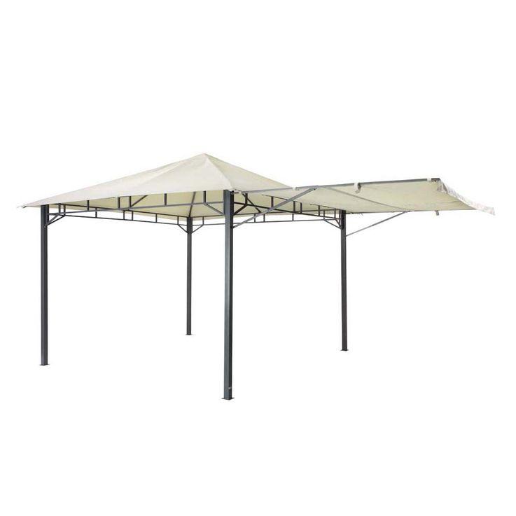 Pavillon hellgrau TEPRO LEHUA 330x330x285 cm Garten Camping Terrasse 5509 – Bild 5