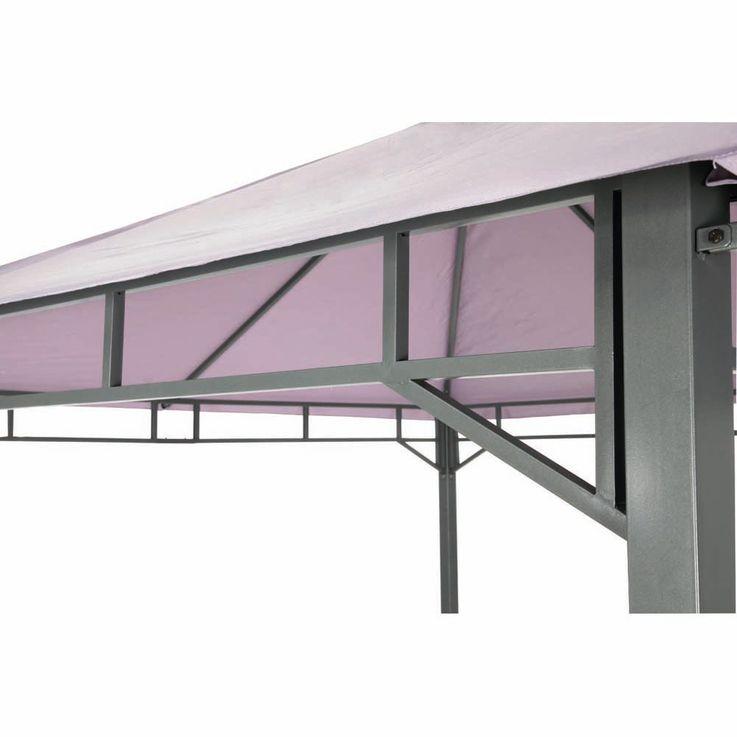 Pavillon lavendel TEPRO LEHUA 330x330x285 cm Garten Camping Terrasse 5510 – Bild 9