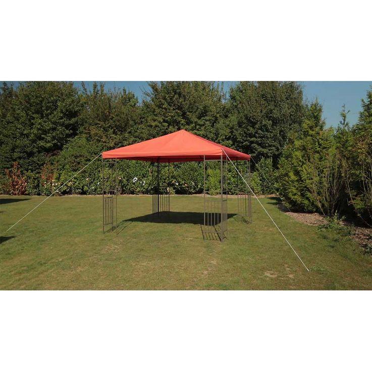 Pavillon terracotta TEPRO KAEMI 295x295x280 cm Garten Camping Terrasse 5520 – Bild 2