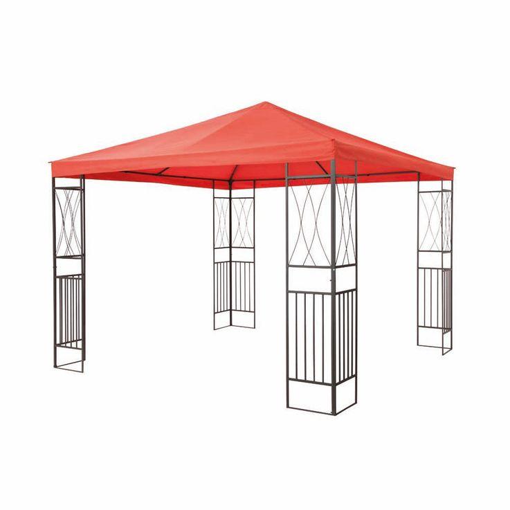 Pavillon terracotta TEPRO KAEMI 295x295x280 cm Garten Camping Terrasse 5520 – Bild 3