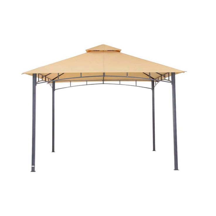 Pavillon sand TEPRO WAYA 330x330x290 cm Garten Camping Terrasse 5526 – Bild 1