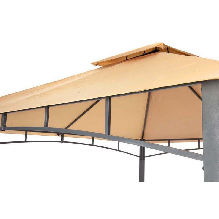 Pavillon sand TEPRO WAYA 330x330x290 cm Garten Camping Terrasse 5526 – Bild 8