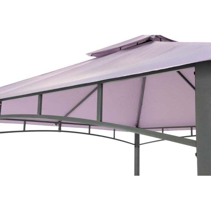 Pavillon lavendel TEPRO WAYA 330x330x290 cm Garten Camping Terrasse 5528 – Bild 7