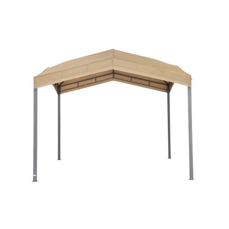 Pavillonbespannung taupe TEPRO MARABO 305x305x96 cm Garten Camping Terrasse 5530TP – Bild 1