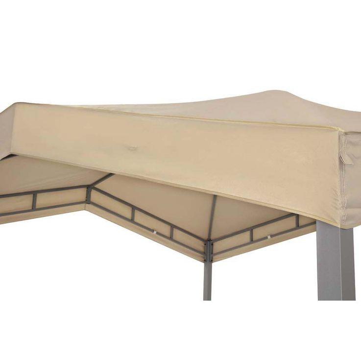 Pavillonbespannung taupe TEPRO MARABO 305x305x96 cm Garten Camping Terrasse 5530TP – Bild 2