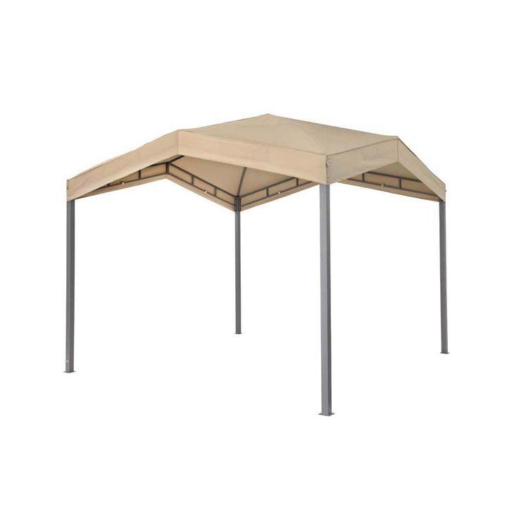 Pavillon taupe TEPRO MARABO 305x305x275 cm Garten Camping Terrasse 5531 – Bild 1