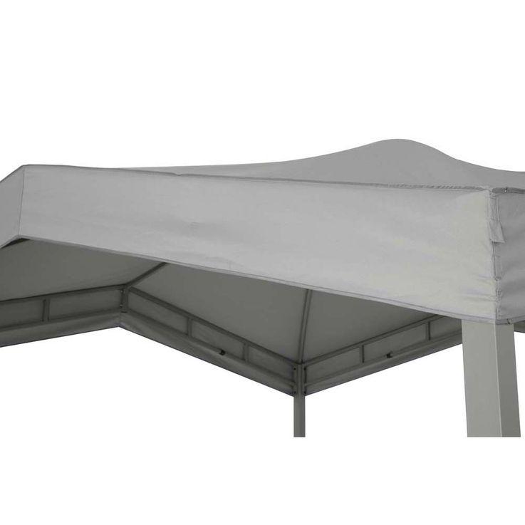 Pavillon grau TEPRO MARABO 305x305x275 cm Garten Camping Terrasse 5532 – Bild 6