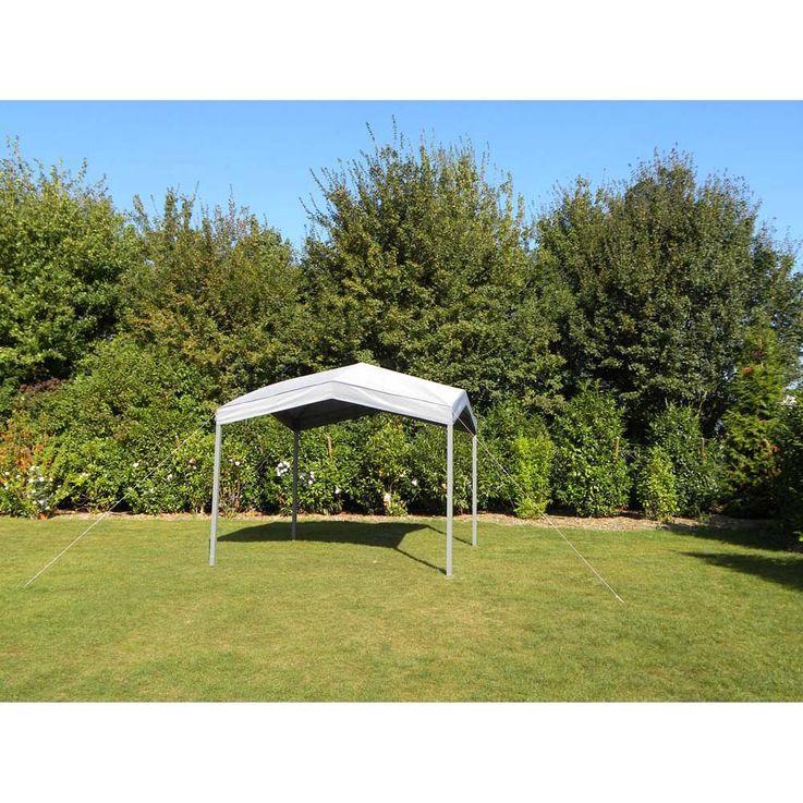 Pavillon grau TEPRO MARABO 305x305x275 cm Garten Camping Terrasse 5532 – Bild 2