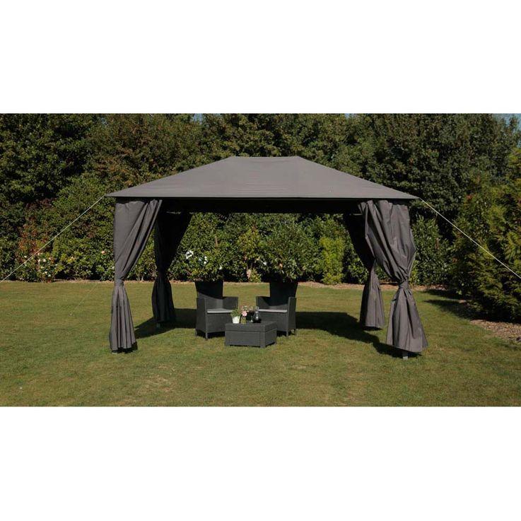 Pavillon anthrazit TEPRO KABARA 300x400x280 cm Garten Camping Terrasse 5538 – Bild 2