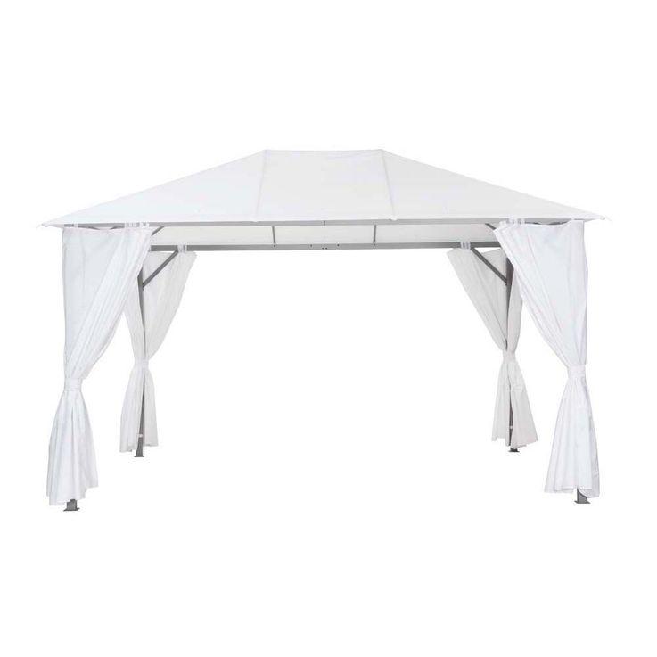 Pavillon weiß TEPRO KABARA 300x400x280 cm Garten Camping Terrasse 5539 – Bild 1