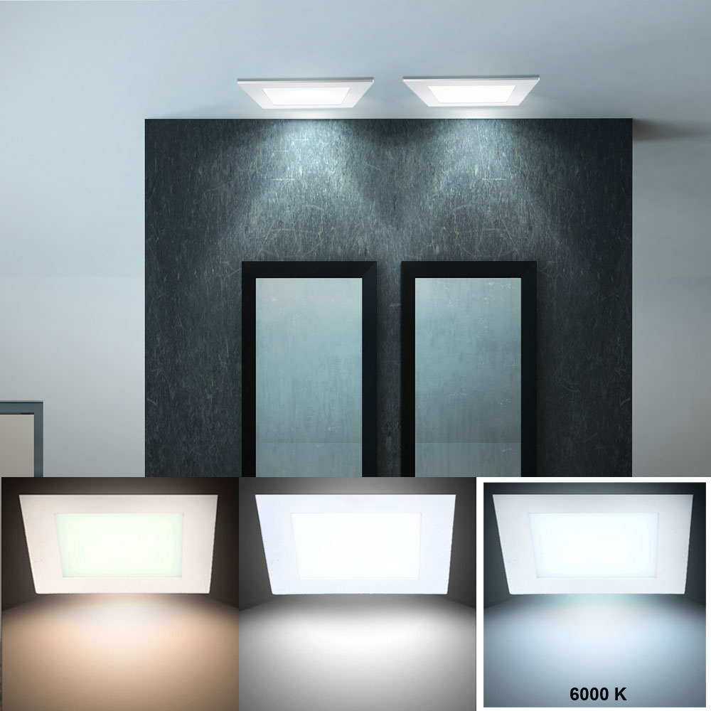 6er set led panels aus alu zur decken und wandmontage vt 307. Black Bedroom Furniture Sets. Home Design Ideas