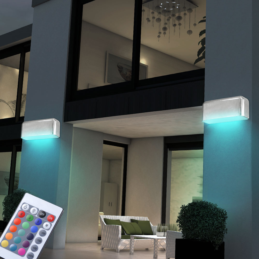 2er set rgb led wandlampen mit fernbedienung avesia unsichtbar lampen m bel au enleuchten. Black Bedroom Furniture Sets. Home Design Ideas