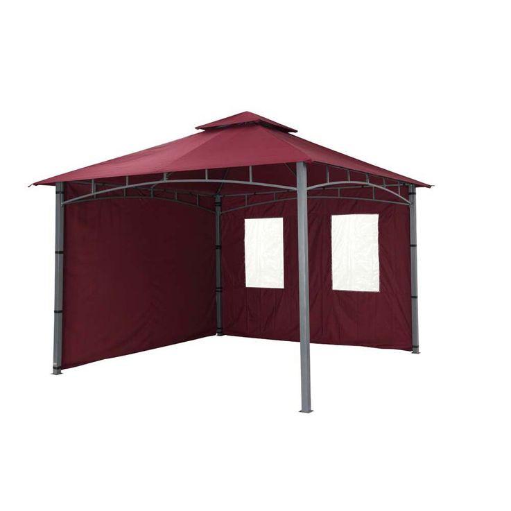 TEPRO Seitenteilset für LEHUA und WAYA burgund Pavillon Garten terasse Camping 5513 – Bild 10