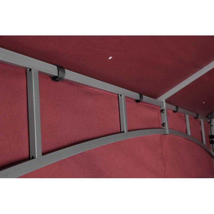 TEPRO Seitenteilset für LEHUA und WAYA burgund Pavillon Garten terasse Camping 5513 – Bild 12