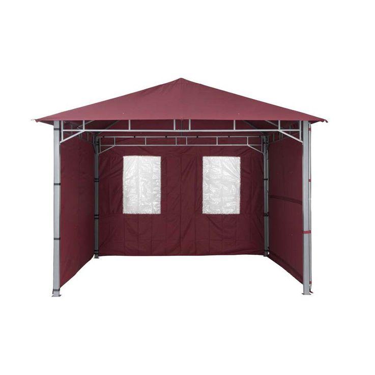 TEPRO Seitenteilset für LEHUA und WAYA burgund Pavillon Garten terasse Camping 5513 – Bild 4