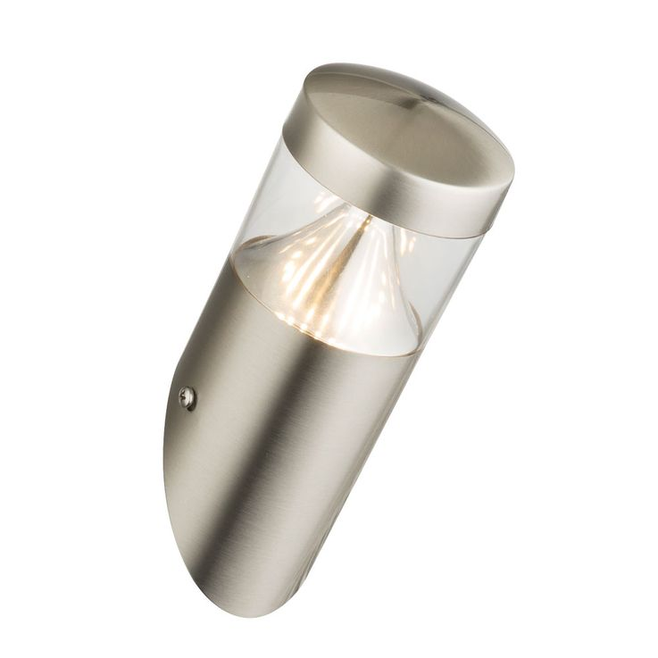 7W LED wall spotlights matt oblong stainless steel outdoor lamp silver garden lamp economic Globo 34206 – Bild 1