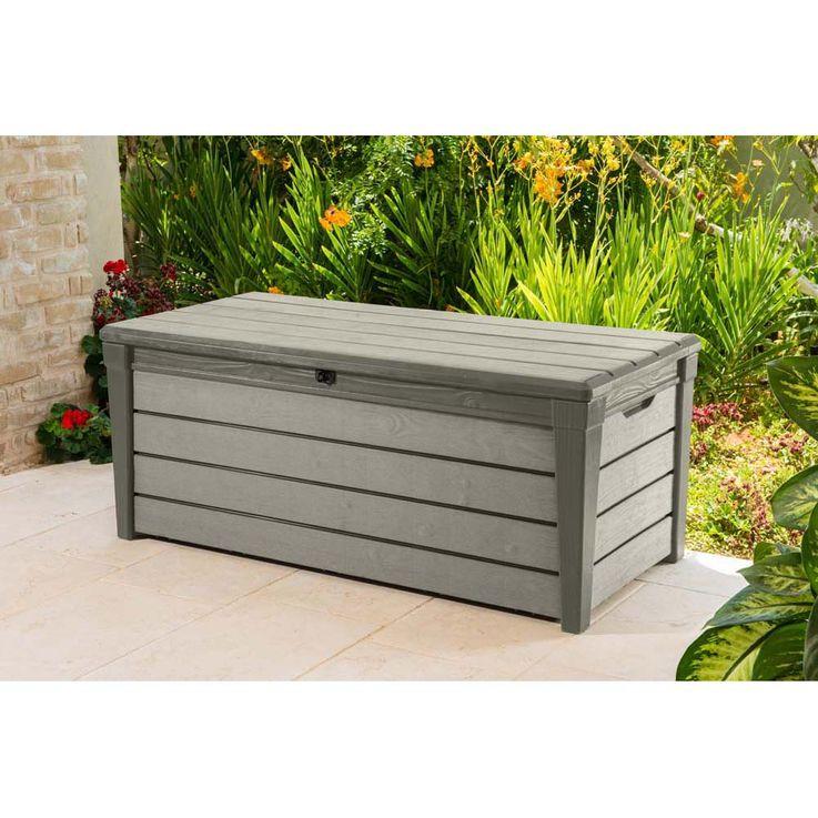 455l Garten Box in taupe TEPRO BRUSHWOOD Terrasse Außen Camping 6046 – Bild 2