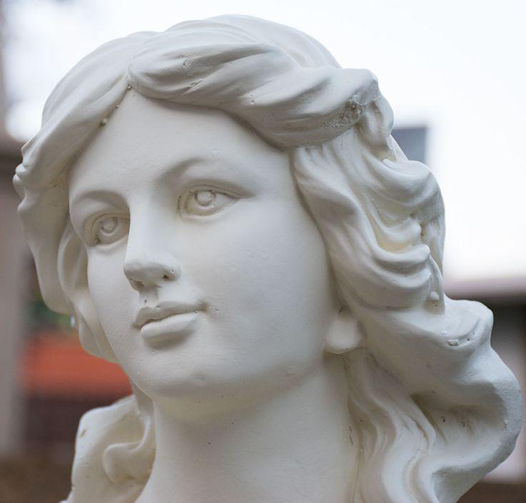 Outdoor Stand Figurine Terrace Woman Statue Stone-look Garden Decoration Sculpture  Harms 301829 – Bild 5