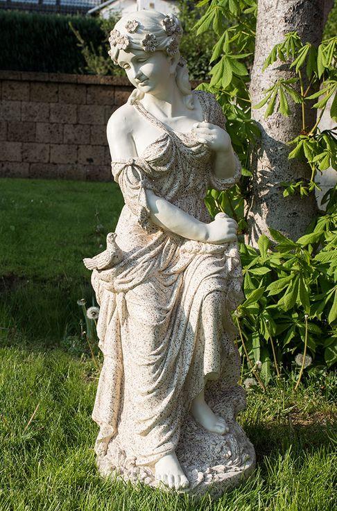Outdoor Area Stand Stand Figure Land Garden Stone Look Decorative Sculpture Woman Statue  Harms 301832 – Bild 3