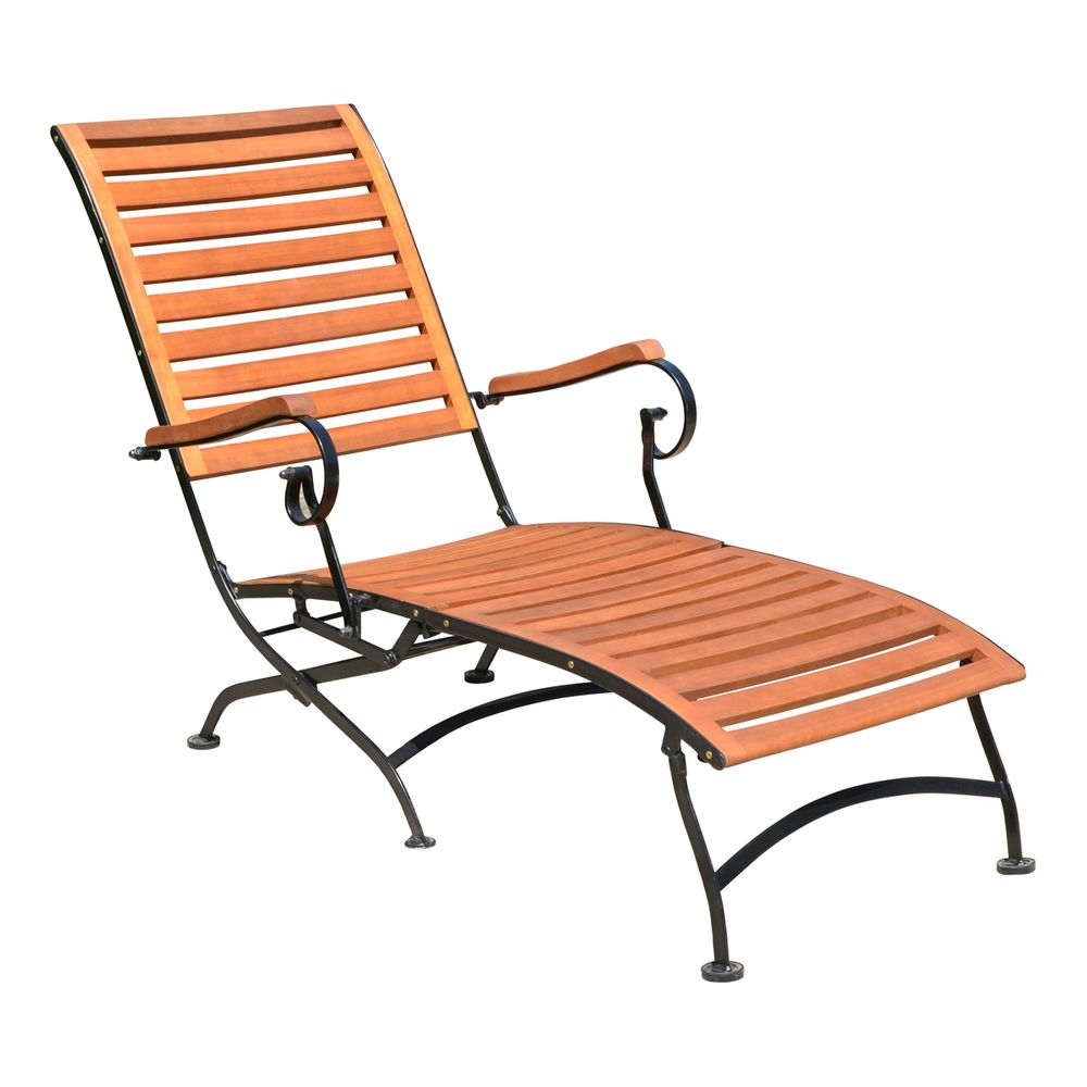 Deckchair WIEN Stahl / Eukalyptus Grandis FSC 100% 304897
