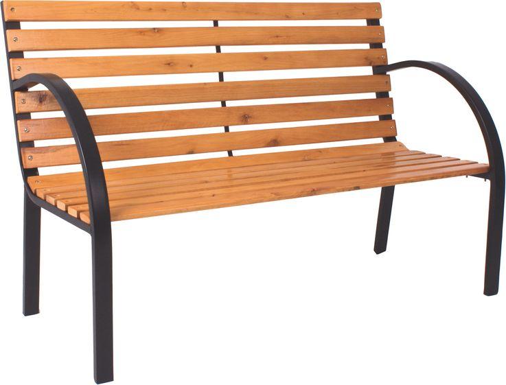 Parkbank BELLEVUE Stahl / Holz lackiert 304902 – Bild 1