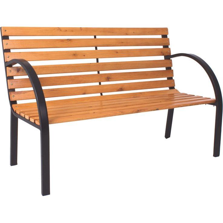Parkbank BELLEVUE Stahl / Holz lackiert 304902 – Bild 2