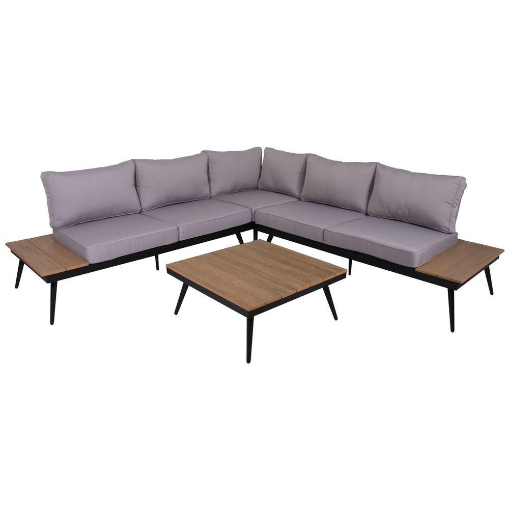 Lounge-Set RIBA 4tlg. Aluminium / Eukalyptus 305269