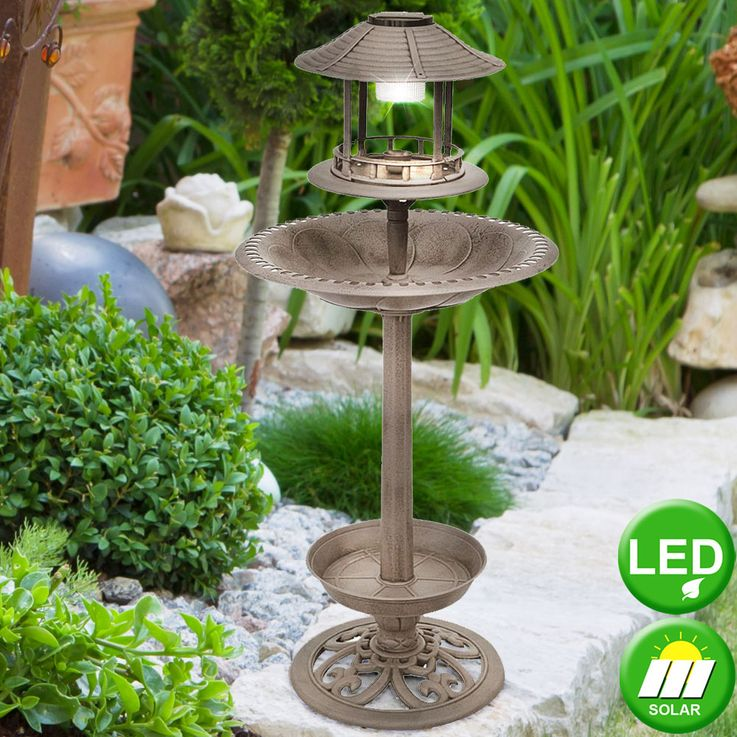 Sturdy Bird Potions with LED Lighting Bronze Stand Lamp Decoration Exterior Light  Harms 315079 – Bild 2