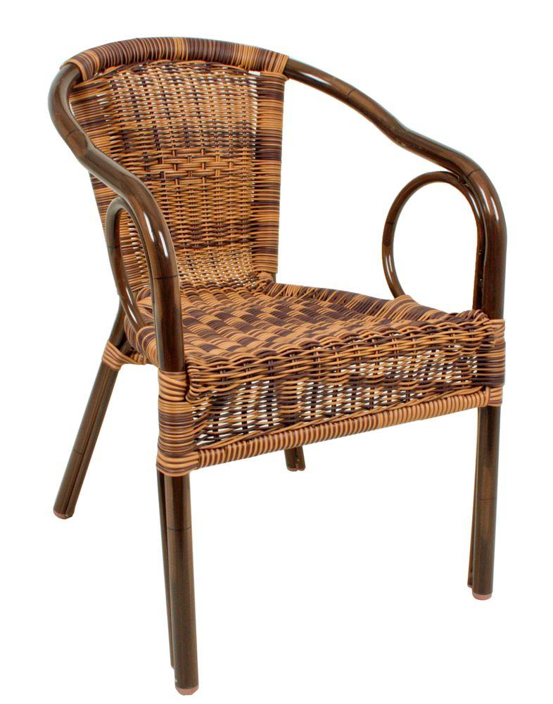 Gartenstühle - Stapelstuhl TATRA ALU braun  - Onlineshop ETC Shop