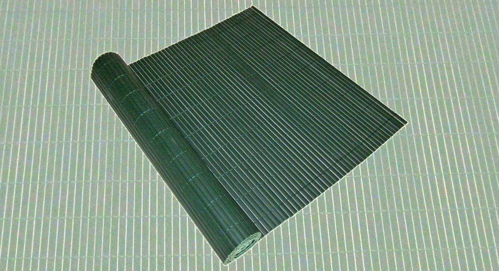 Sicht- u. Windschutz PVC 90x500cm grün Lamellenoptik Rohr 16x3 mm 504564
