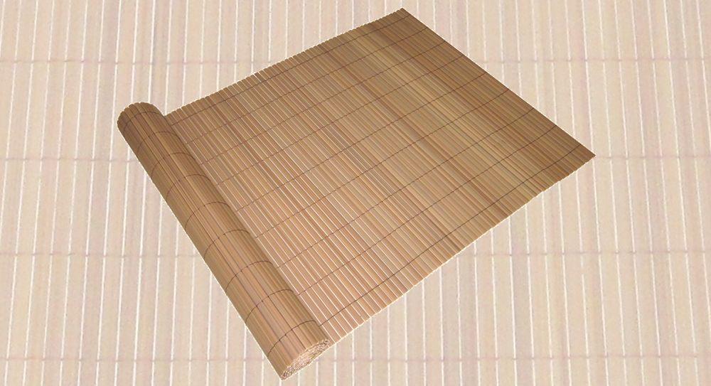 Sicht- u. Windschutz PVC 90x500cm braun Lamellenoptik Rohr 16x3 mm 504565