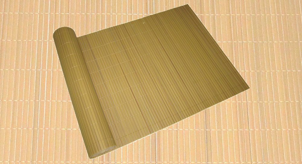 Sicht- u. Windschutz PVC 90x1000cm bambu Lamellenoptik Rohr 16x3 mm 504569