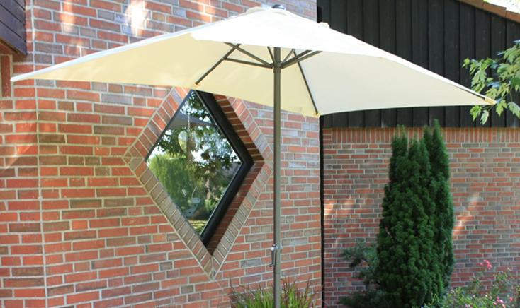 Sonnenschirme und Sonnensegel - Sonnenschirm 250x145 cm 6 Streben  - Onlineshop ETC Shop