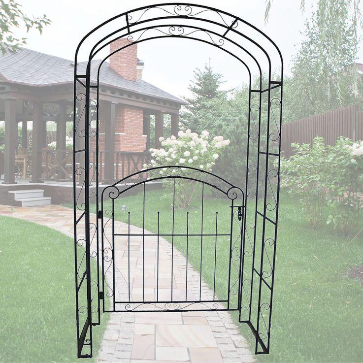 Rose Arch Door Rank Lattice Help Pergola Gate Metal Rust Look Frame Spalier  Harms 504659 – Bild 2