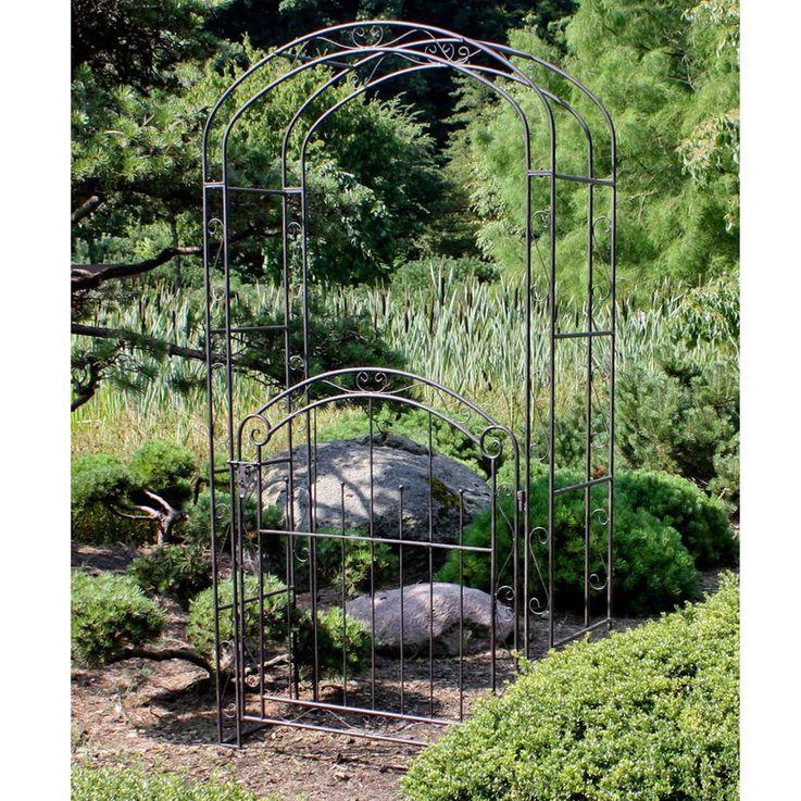 Rose Arch Door Rank Lattice Help Pergola Gate Metal Rust Look Frame Spalier  Harms 504659 – Bild 3