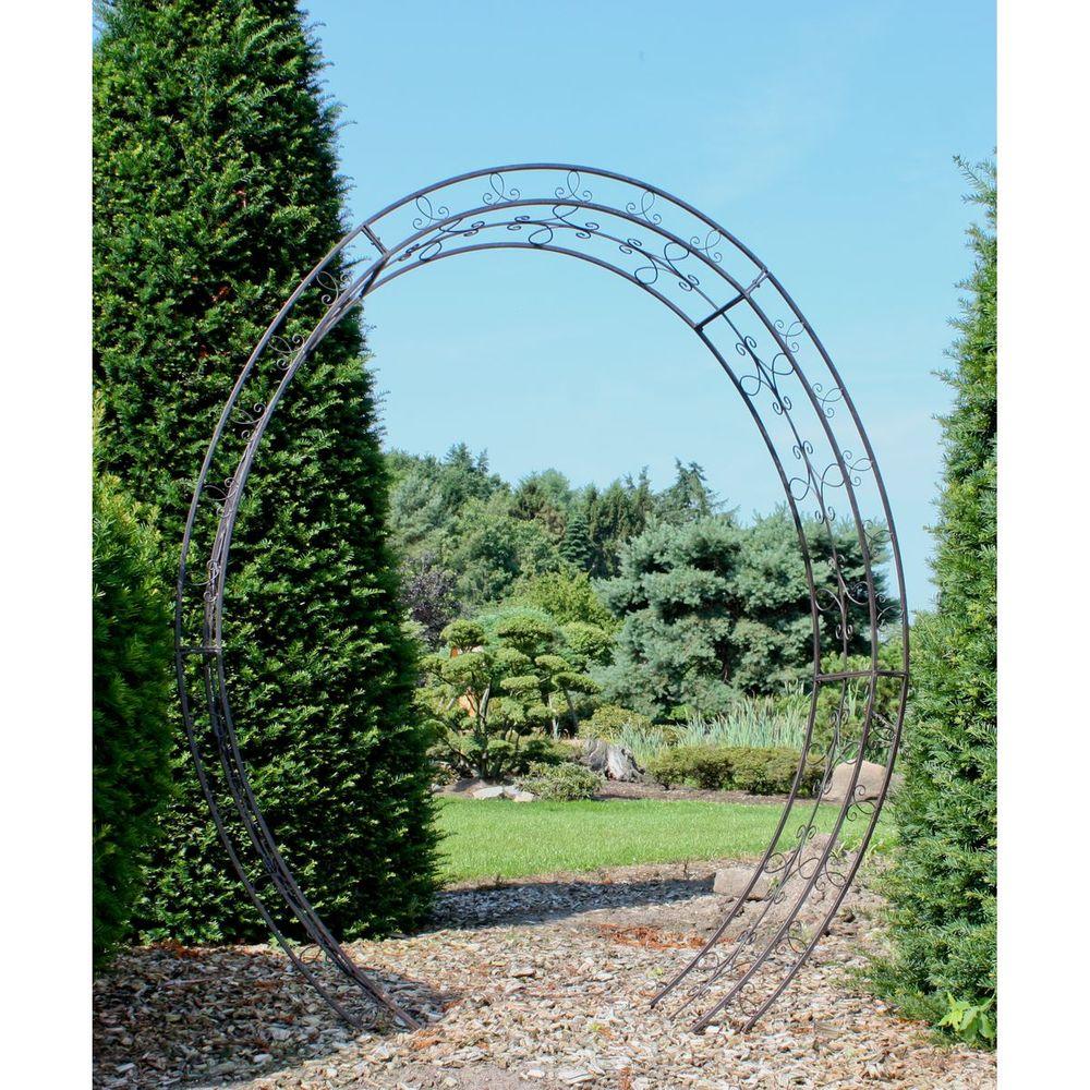 Gartendekoration - Rosenbogen LAMOS oval aus Metall  - Onlineshop ETC Shop