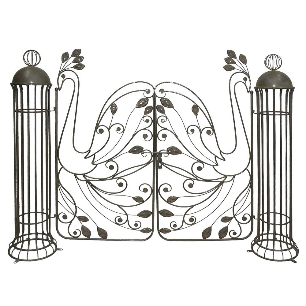 Gartendekoration - Pforte aus Stahl in Edelrostoptik für Ihren Garten PACAYA  - Onlineshop ETC Shop