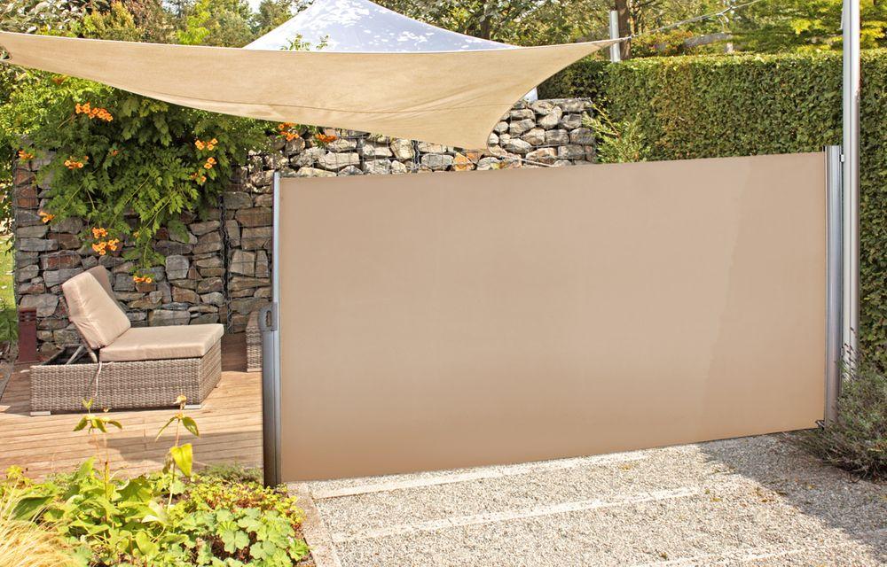 Seitenmarkise beige Aluminium / Polyester 509131