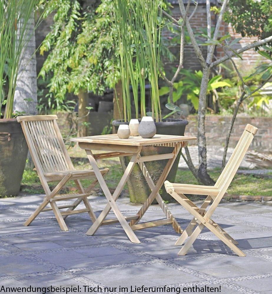 Gartentische - Tisch JAVA quadratisch 70x70cm Teak  - Onlineshop ETC Shop