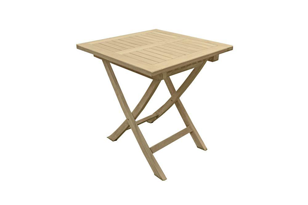 Tisch Solo Quadratisch 70x70 Cm Teak Garten Freizeit Gartenmobel