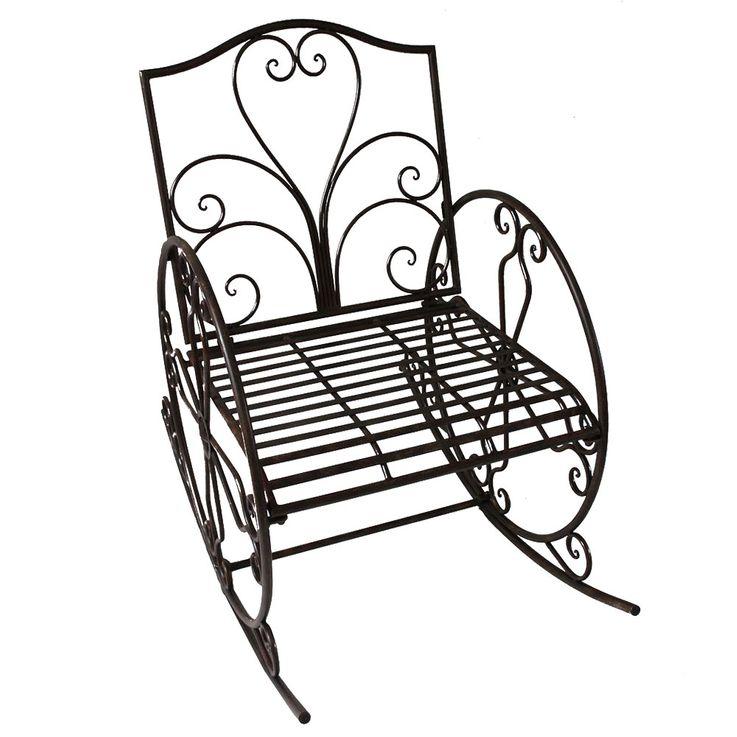 Chaise De Balançoire De Jardin Rust Look Swing Fauteuil Antique Style Vintage Meubles Décoration  Harms 950397 – Bild 1
