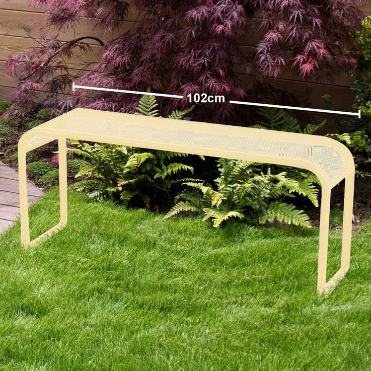 MWH garden bench 2 seater seat furniture Elotherm coating metal yellow  Harms H950420 – Bild 2