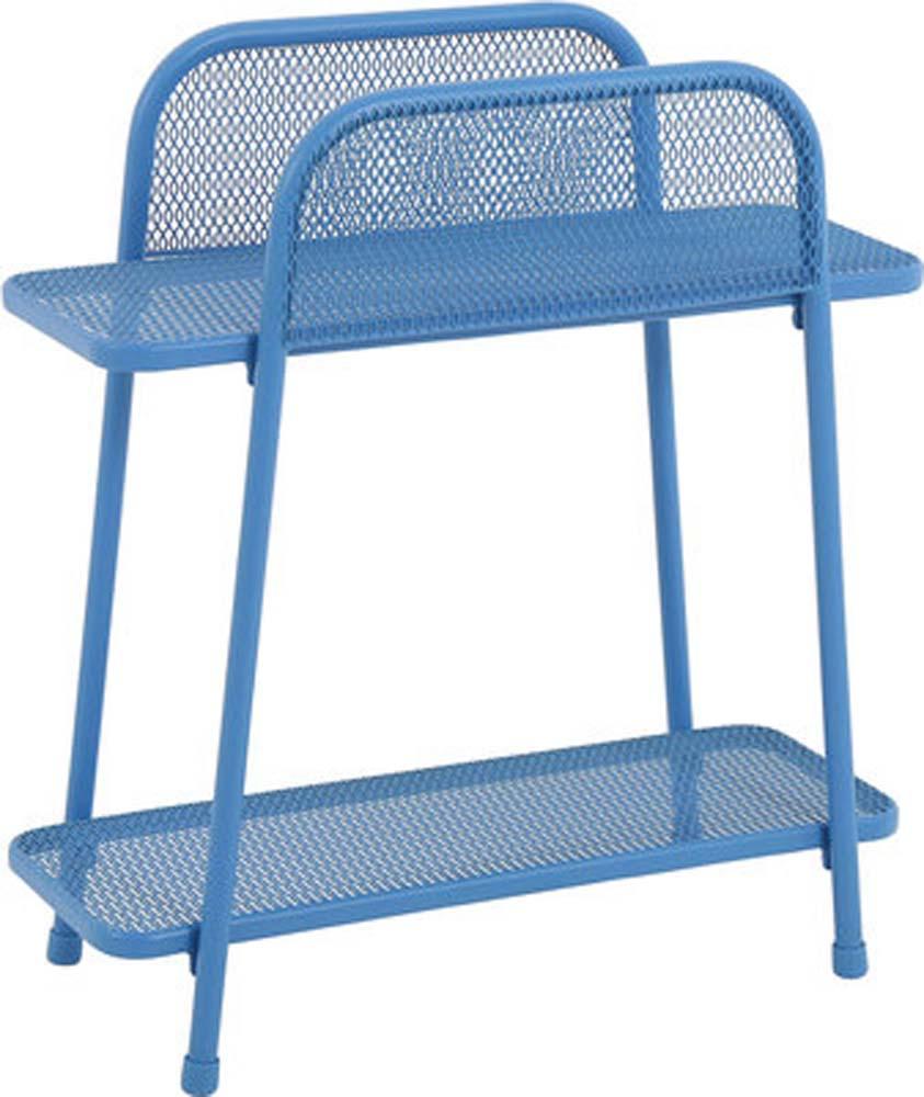 MWH Balkonregal Shelfo blau 55x27x70 cm elotherm beschichtet 950426