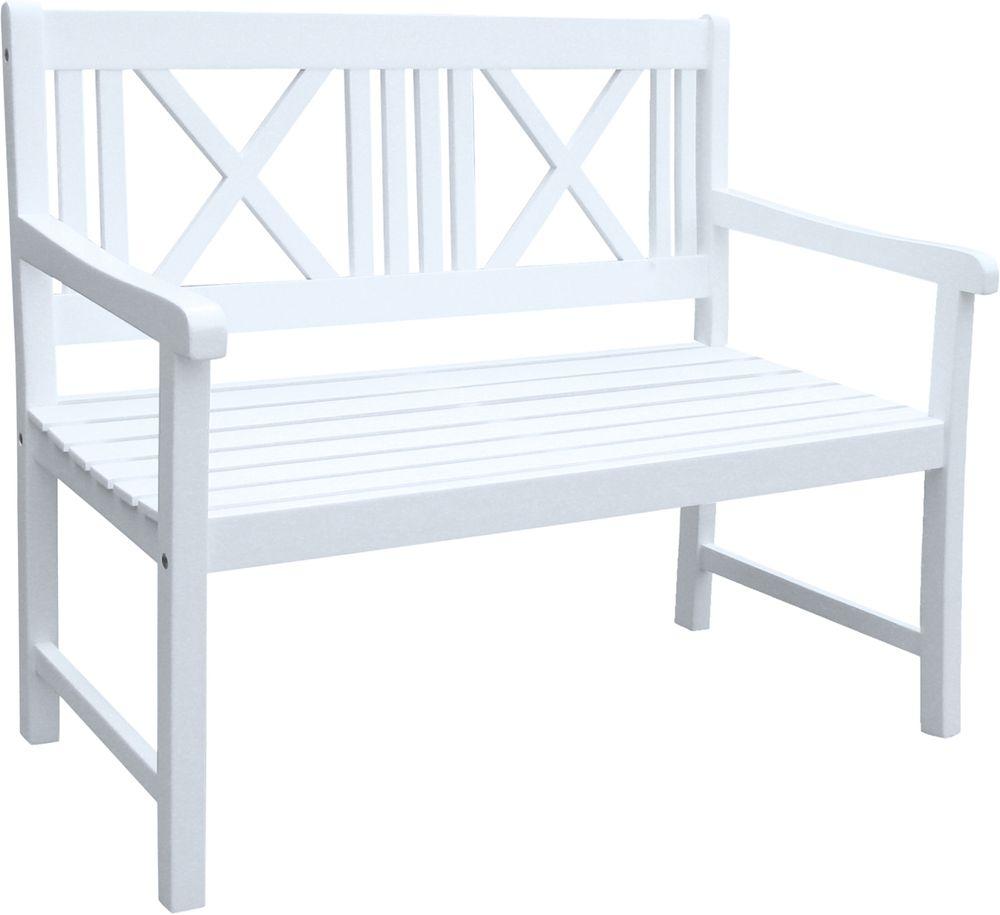 Bank MALMÖ 2-Sitzer Akazie weiß lackiert 965019
