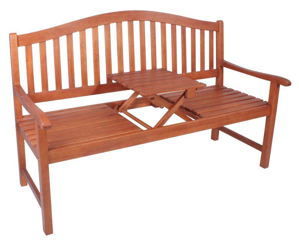 Bank PHUKET mit hochklappbarem Tisch Eukalyptus FSC 100% 985022