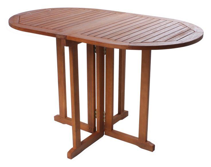 Balkontisch BALTIMORE klappbar geölt Eukalyptus FSC 100% 985041 – Bild 1
