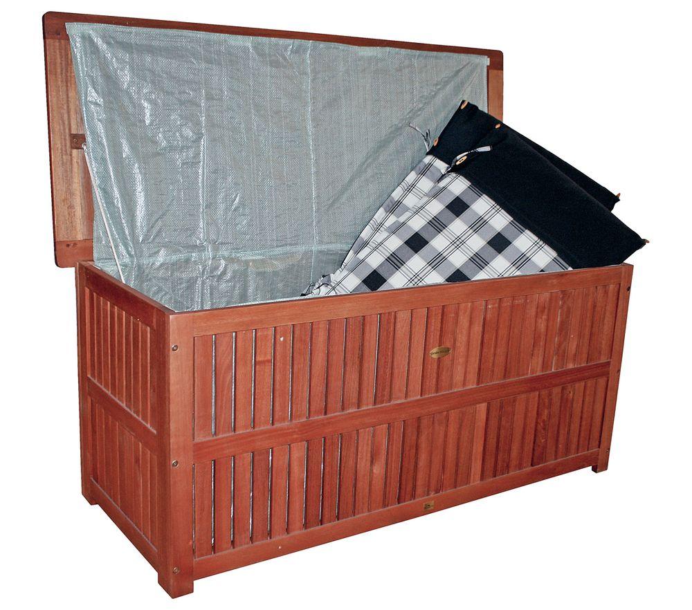 Auflagenbox PLANO mit Folieninnentasche Eukalyptus FSC 100% 985042