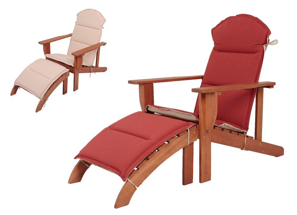 Adirondack Chair HARPER mit Auflage Eukalyptus Grandis FSC 100% geölt 985136